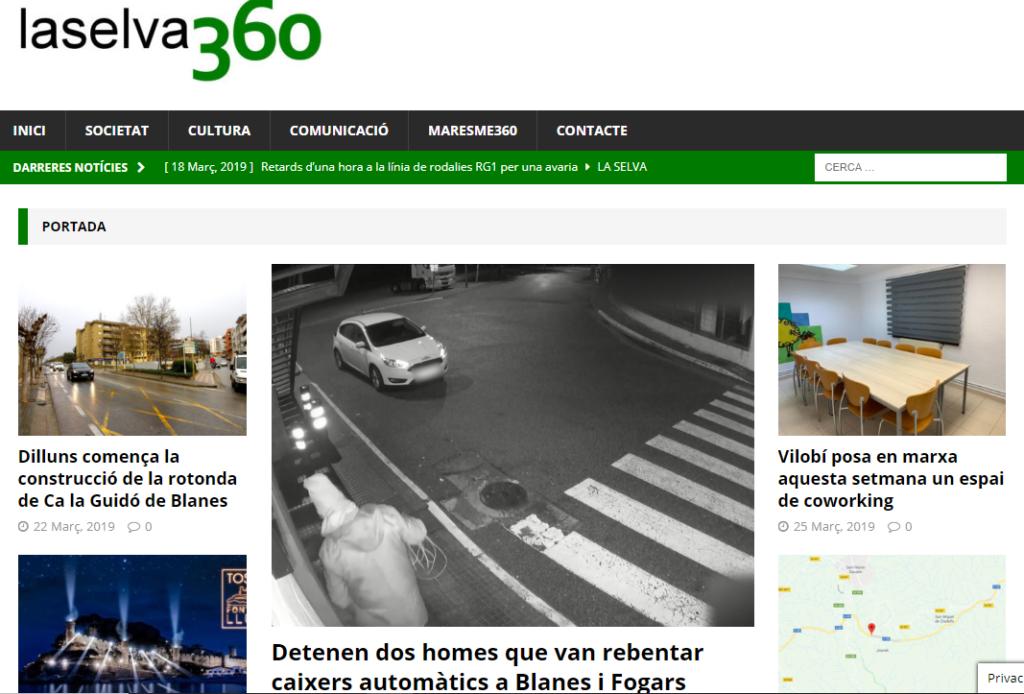 Portal de notícies laselva360.cat