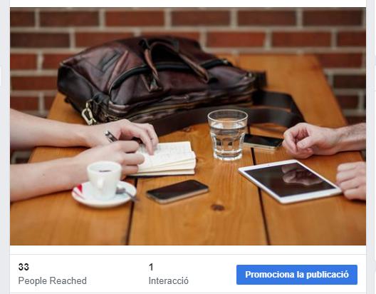 Promocionar una publicació a Facebook