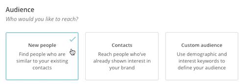 Tipus d'anuncis a Facebook i Instagram des de Mailchimp